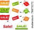 Sale Elements, Isolated On White Background, Vector Illustration - stock vector