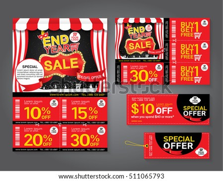 sale flyer promotions coupon banner design stock vector 511065793 shutterstock. Black Bedroom Furniture Sets. Home Design Ideas