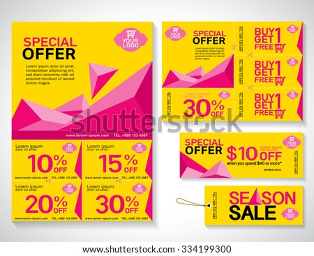 MizuriS Brochure Flyer Template Set On Shutterstock