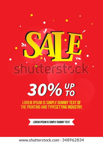 Sale flyer with moderns style and vector illustrations.