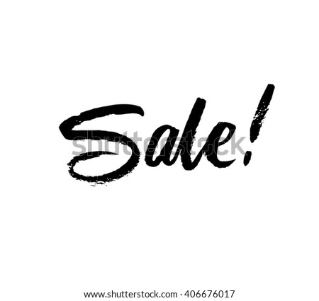 Sale. Hand drawn word. Brush pen lettering. Can be used for print (bags, posters, cards, stationery) and for web (banners, advertisement).