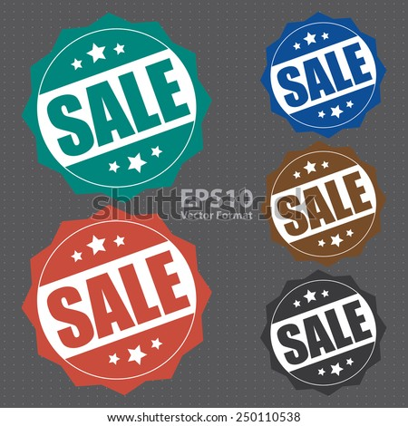 sale icon, tag, label, badge, sign, sticker, vector format