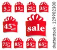 sale icons vector - stock photo