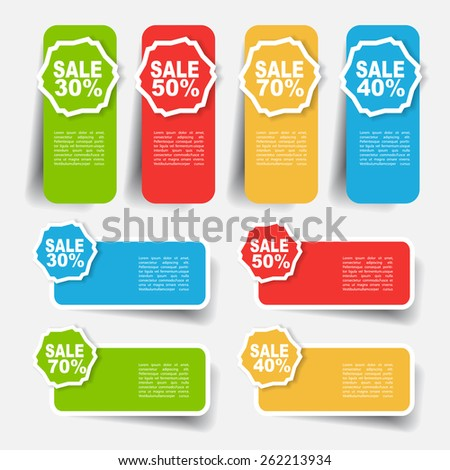 sale label and sticker - stock vector