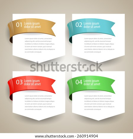 Sale label Blank paper with ribbon. vector design - stock vector