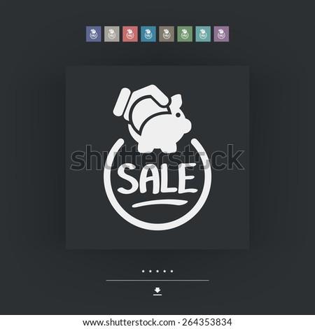 Sale label icon - stock vector