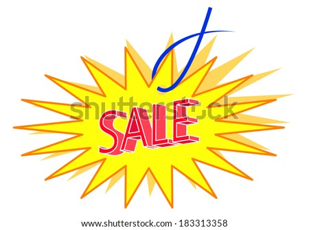 sale label vector - stock vector