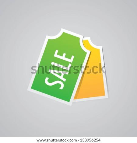 Sale Labels - stock vector