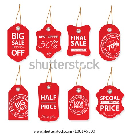 Sale labels set.  - stock vector