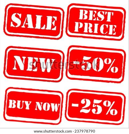 Sale labels stamp vector set - stock vector