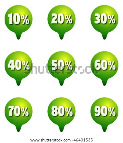 Sale markers percent - stock vector