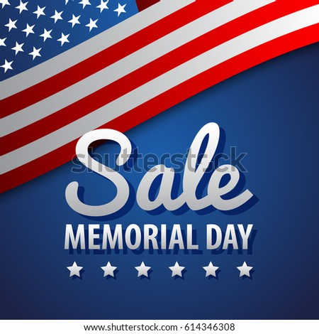 Sale / Memorial Day Background Illustration