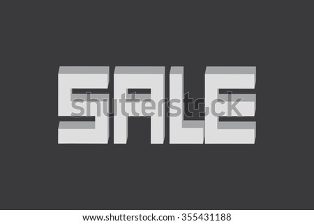 Sale on gray background, vector eps10 illustration - stock vector