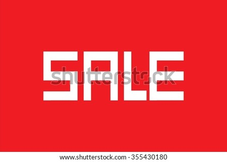 Sale on red background, vector eps10 illustration - stock vector