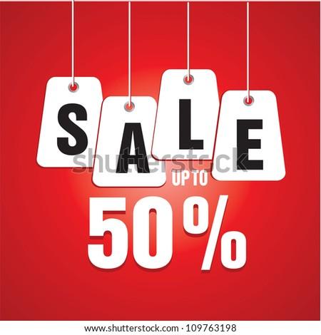 Sale percents - stock vector