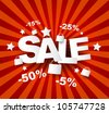 Sale poster with percent discount - stock photo
