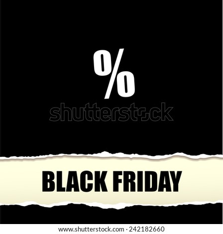 Sale poster with percent vector - stock vector