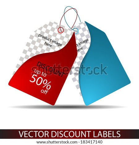 Sale price tags/Vector illustration