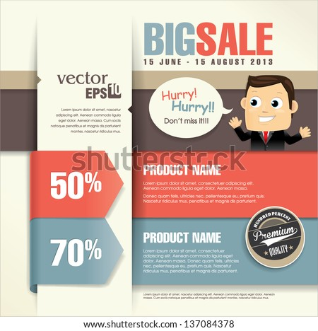 Sale Promotion Design Template - stock vector