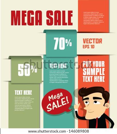 Sale Promotion Design Template - stock vector