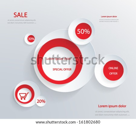 Sale Promotion Design Template . Vector eps10. - stock vector
