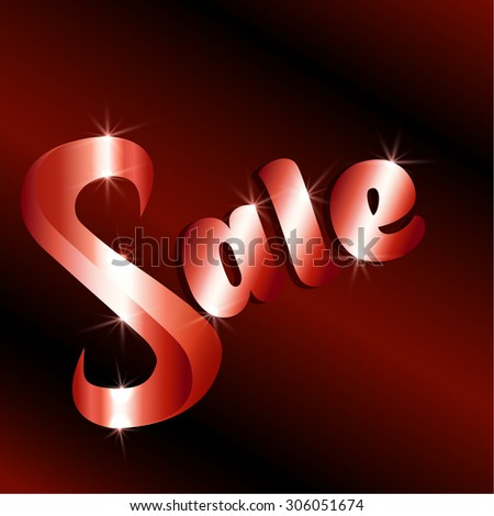 Sale red shining sign. Vector format