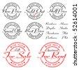 sale, rent, special offer - stamp - vector set - stock vector