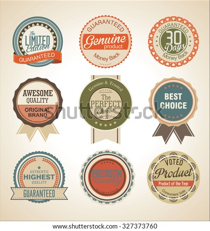 Sale retro Labels collection - stock vector