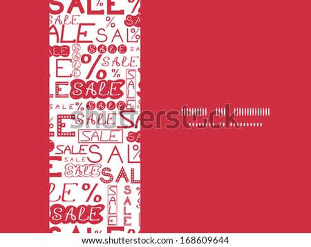 Sale seamless pattern horizontal frame background - stock vector