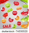 Sale Set, Vector Illustration - stock photo