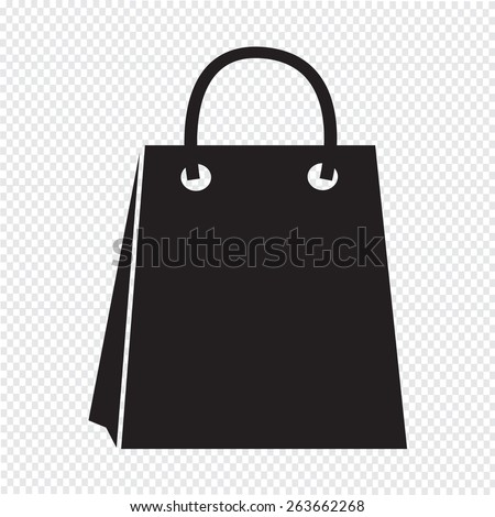 Sale shopping bag icon - stock vector