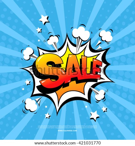 sale speech bubble - stock vector