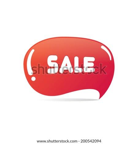 Sale Speech Bubble Label - stock vector
