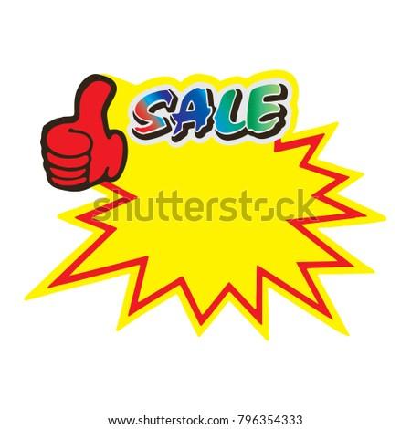 Sale sticker icon logo symbol sign isolated on white background