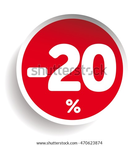 Sale sticker isolated on white