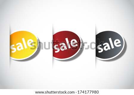 Sale stickers - stock vector