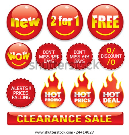 Sale stickers #2 - stock vector