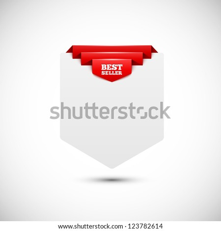Sale tag. Blank paper background. - stock vector
