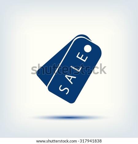 sale tag icon,vector - stock vector