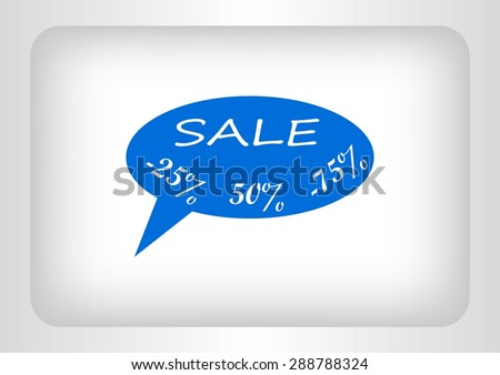 SALE tag icon, vector illustration. Flat design style