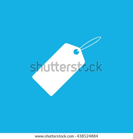 Sale tag / sale label / price tag icon / blue background / vector illustration