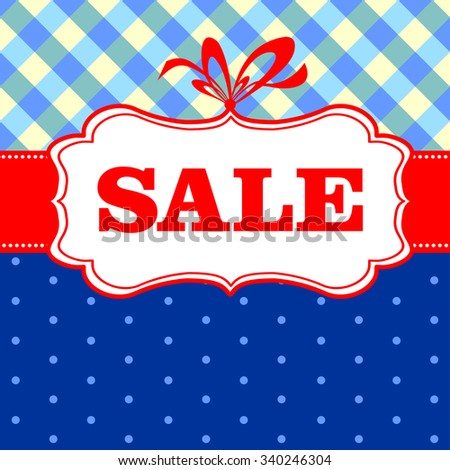 Sale Tag. Vector Illustration - stock vector