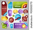 sale tags banner and sticker collection - stock vector