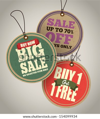 Sale Tags Design - stock vector