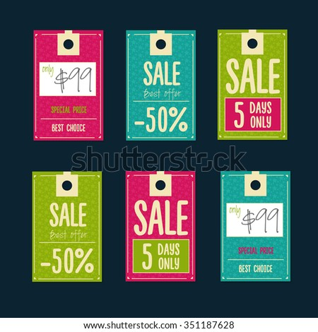 Sale Tags with sale messages - stock vector