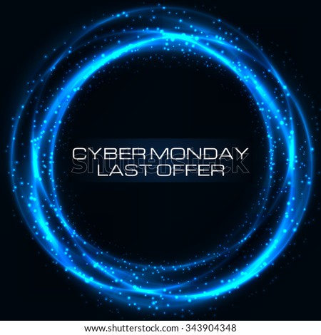 Sale technology banner for cyber monday. Vector art for your business. - stock vector