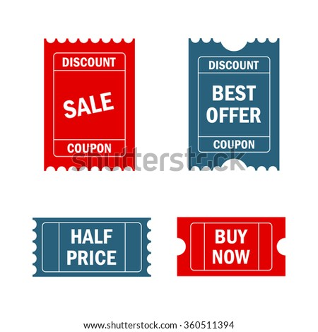 Discount labels coupon