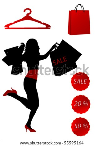 Sale time - stock vector