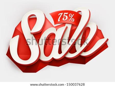 Sale typography background. Vector - stock vector