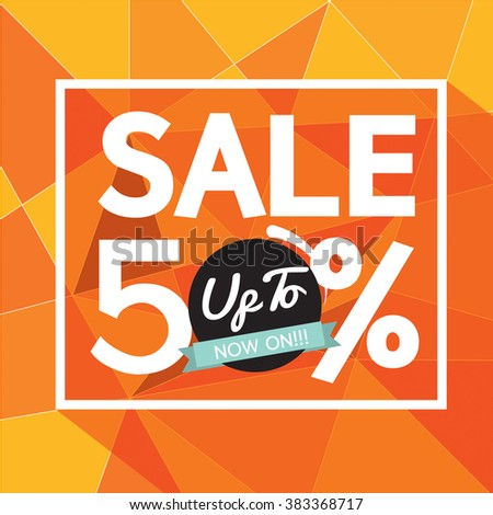Sale Uo To 50 Percent Banner Vector Illustration